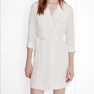 NWT Anine Bing ivory wrap dress, 100% Silk
